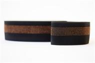 Afbeelding van Elastisch Tailleband - Zwart met Koperen Lijnen
