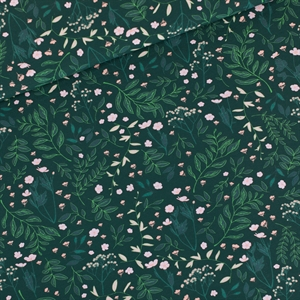 Picture of Flower Garden - M - Cotton Gabardine Twill - Darkest Spruce Green