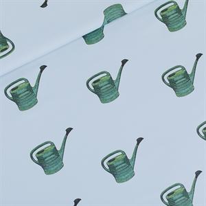 Picture of Watering Cans - M - Katoen Gabardine Twill - Mistblauw