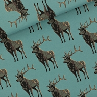 Image de Deer - M - French Terry - Bleu Trellis