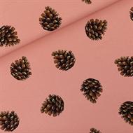 Afbeelding van Pine Cones - M - French Terry - Cameo Bruinachtig Rose