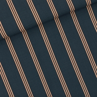 Bild von Three Lines Peach - M - Viscose Rayon - India Tinteblau